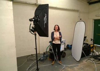 Innovate UK photoshoot at Viridian's workshop
